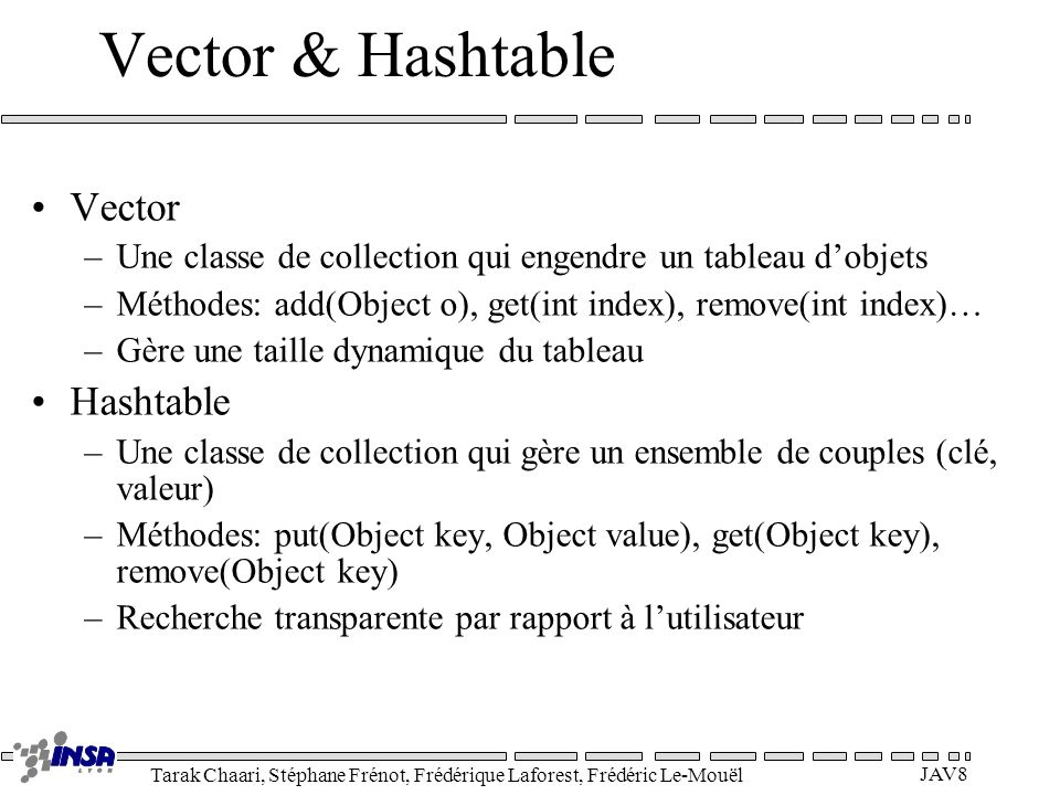 Vector & Hashtable Vector Hashtable