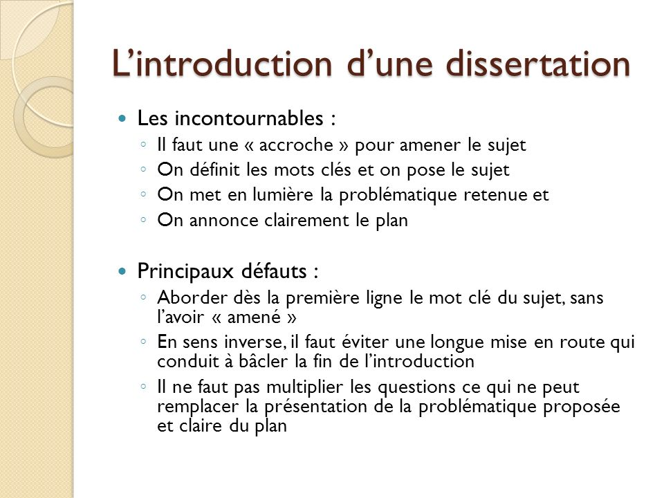 Introduction De Dissertation De Philosophie Annonce Du Plan