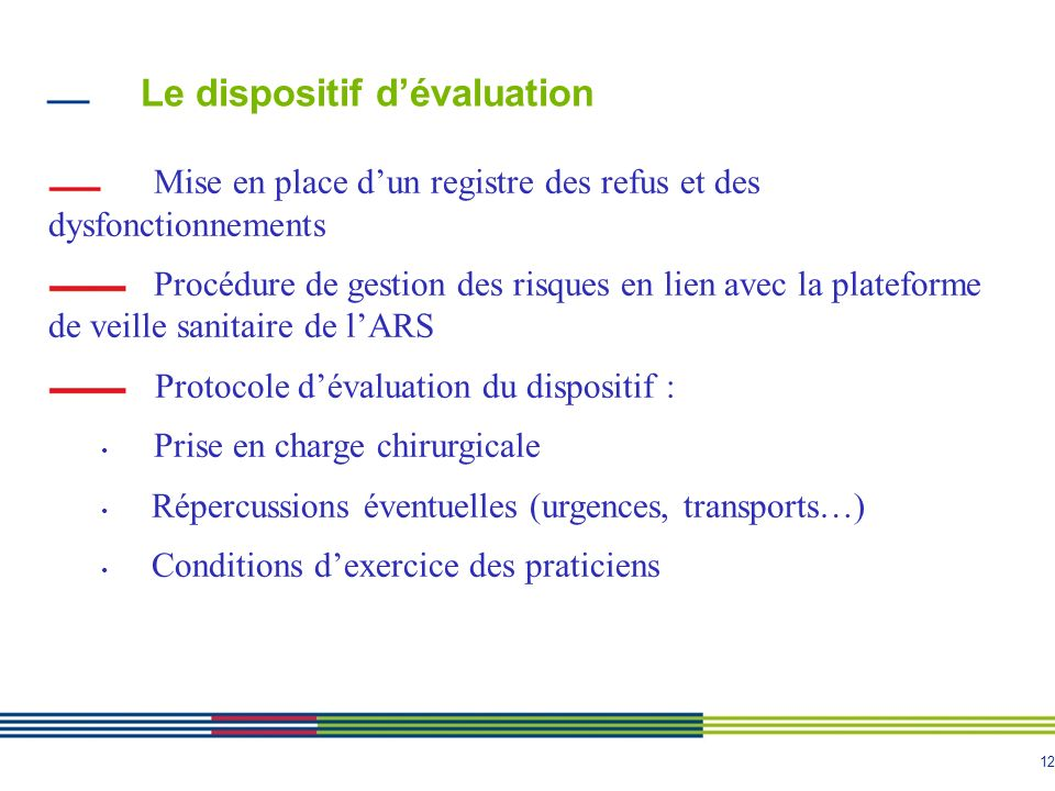 Le dispositif d'évaluation