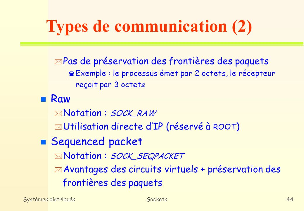 Types de communication (2)