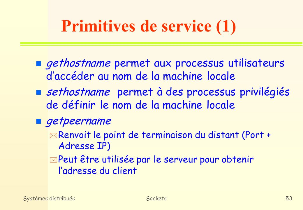 Primitives de service (1)
