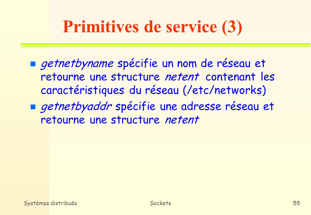 Primitives de service (3)