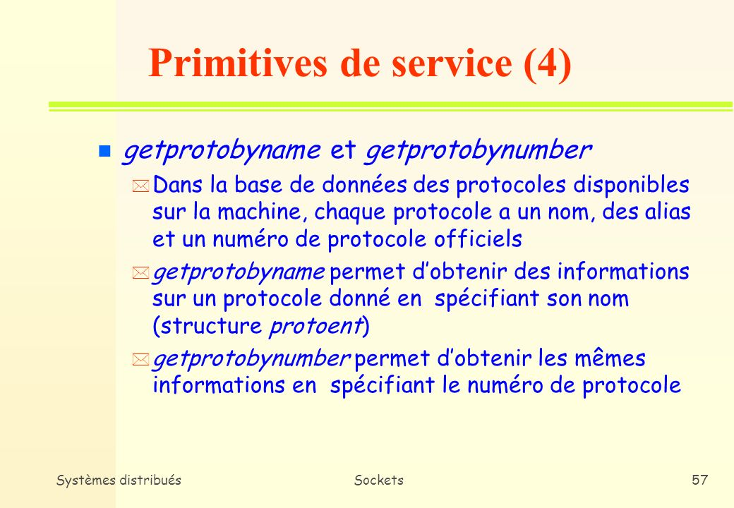 Primitives de service (4)