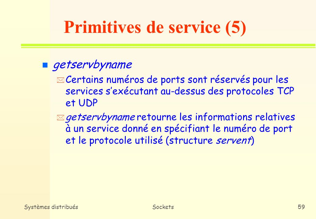Primitives de service (5)