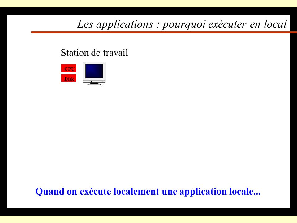Les applications : pourquoi exécuter en local