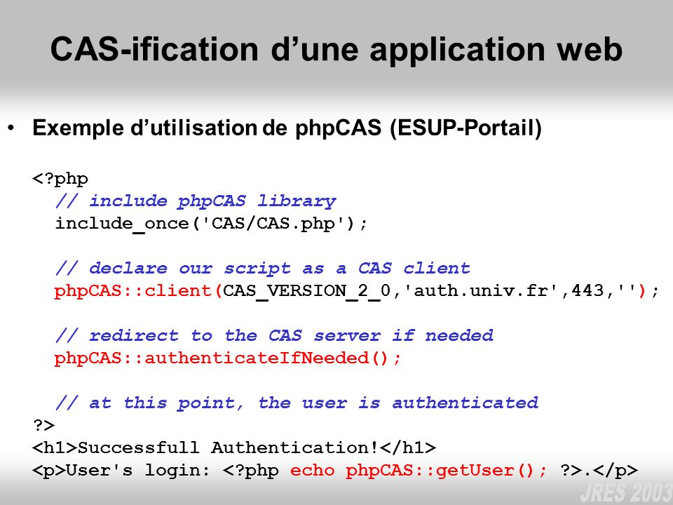 CAS-ification d'une application web