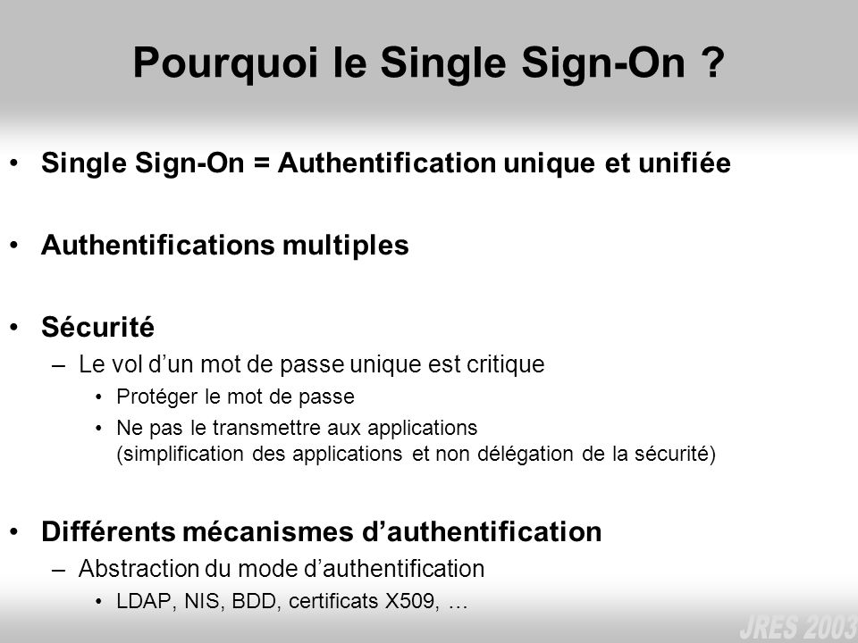 Pourquoi le Single Sign-On