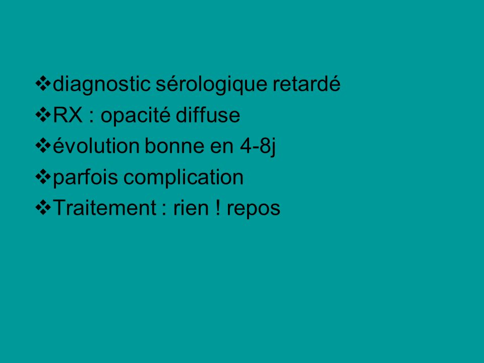 diagnostic sérologique retardé