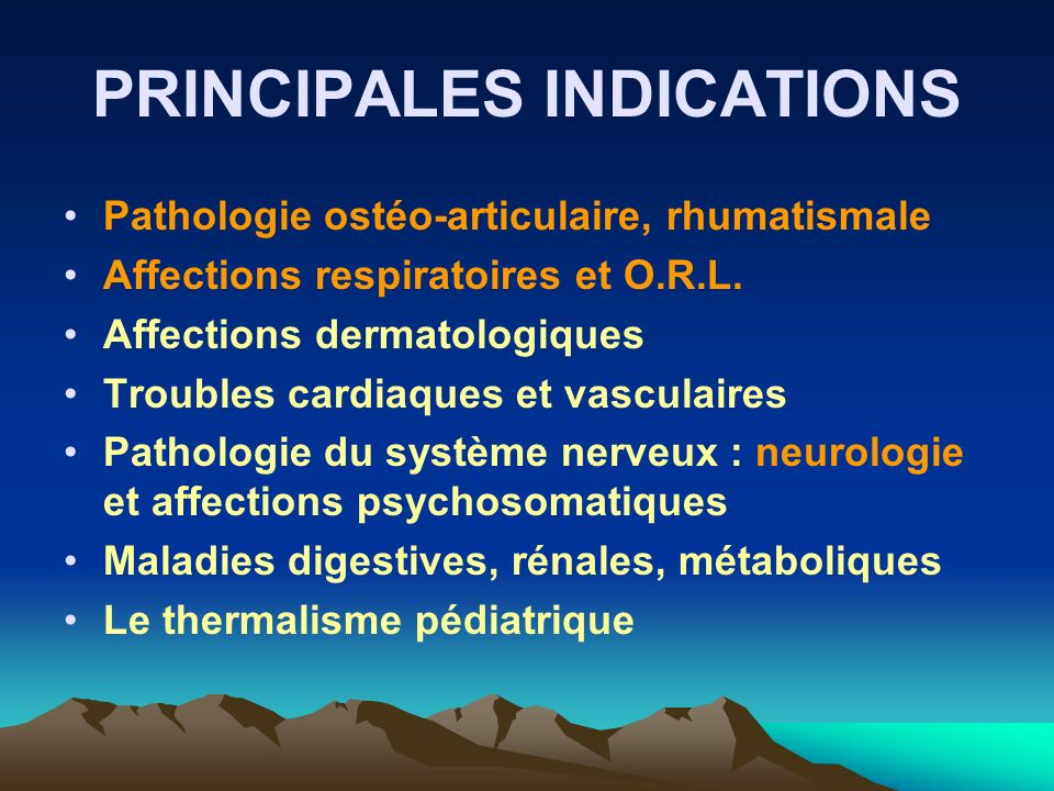 PRINCIPALES INDICATIONS