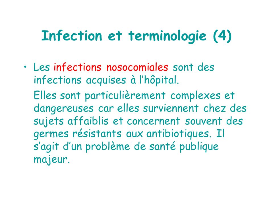 Infection et terminologie (4)