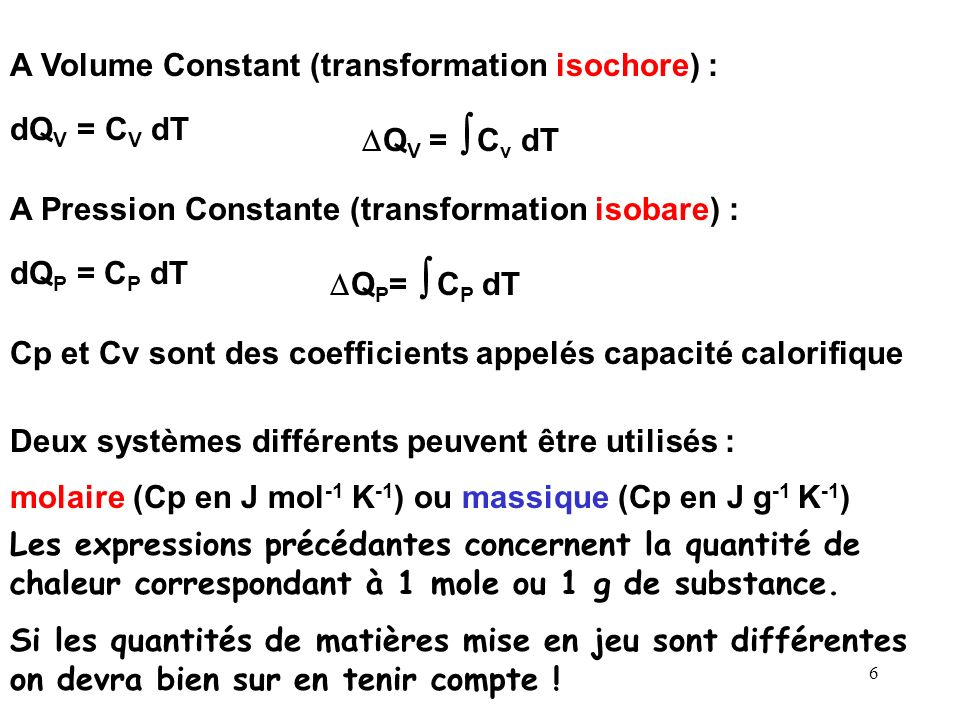 A Volume Constant (transformation isochore) :