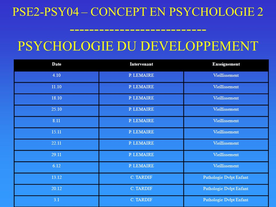 Pathologie Dvlpt Enfant