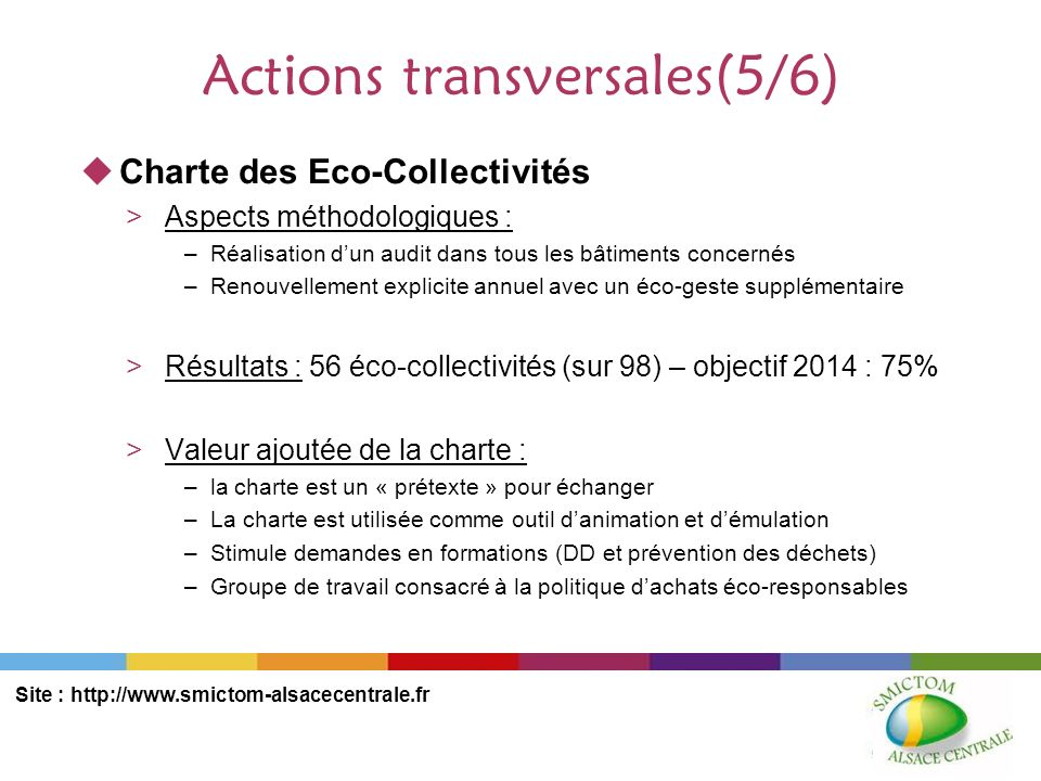 Actions transversales(5/6)