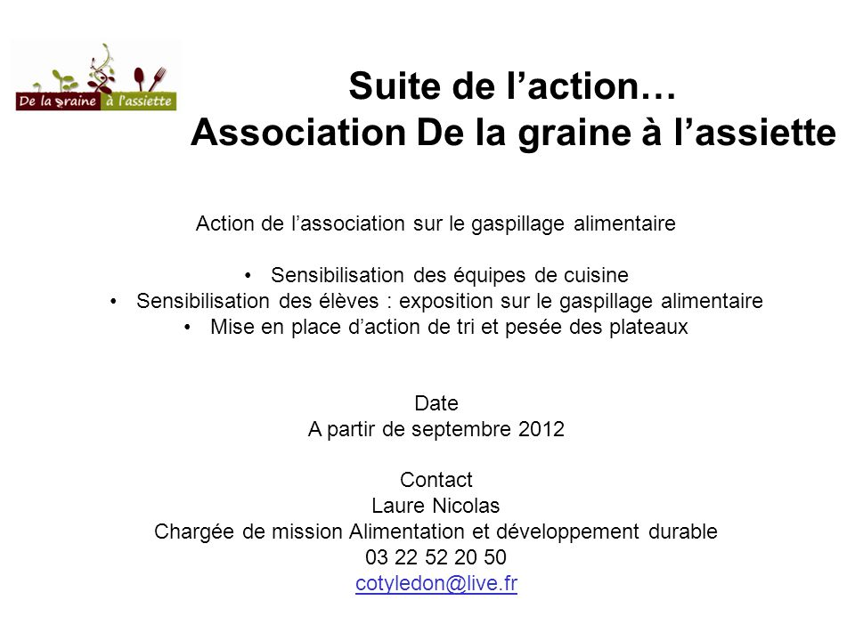 Association De la graine à l'assiette