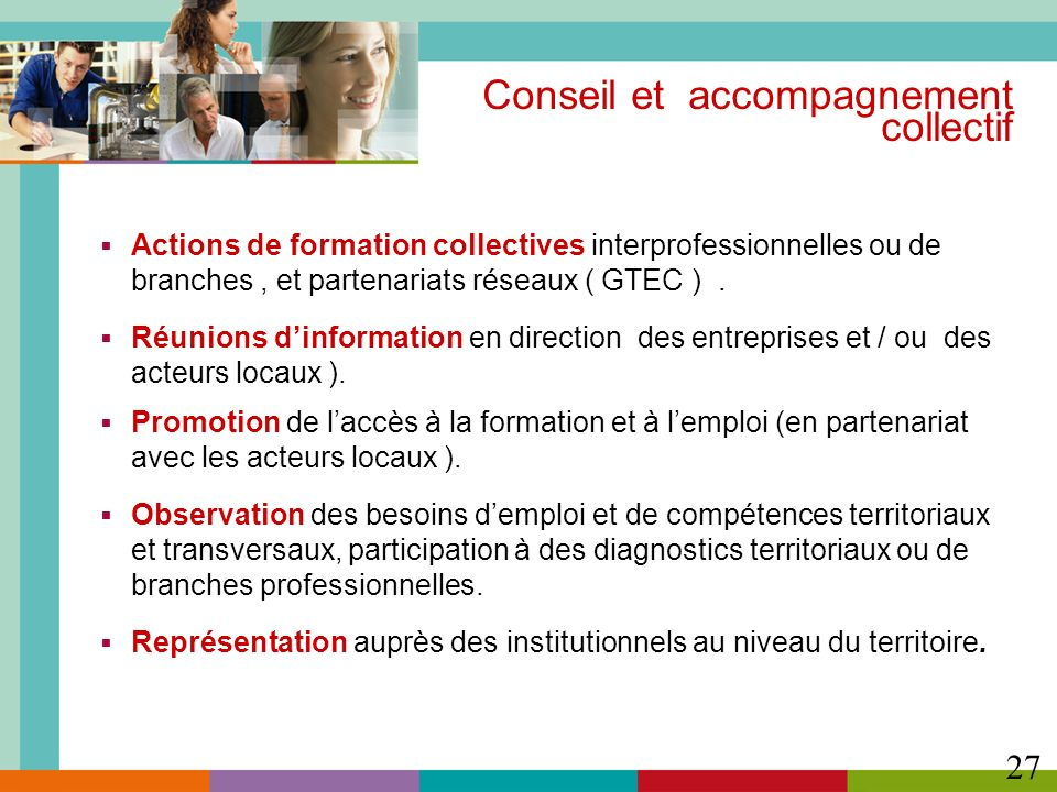 Conseil et accompagnement collectif