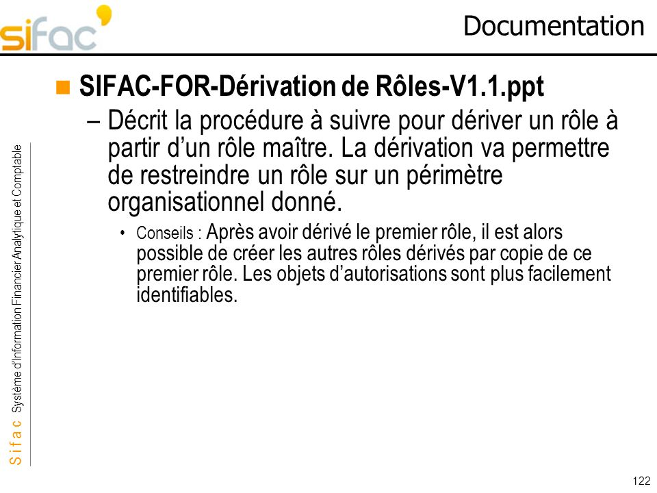 SIFAC-FOR-Dérivation de Rôles-V1.1.ppt