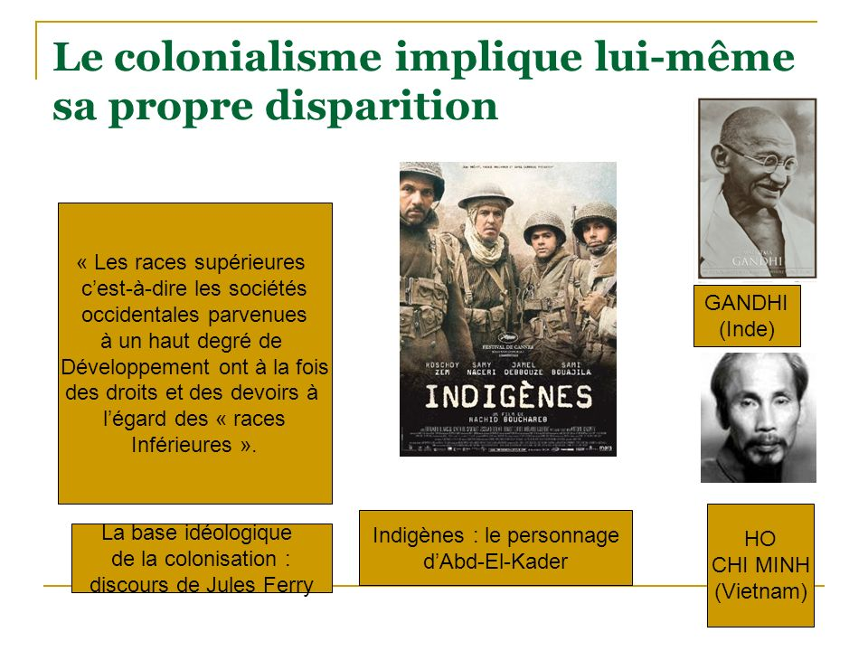 Le colonialisme implique lui-même sa propre disparition