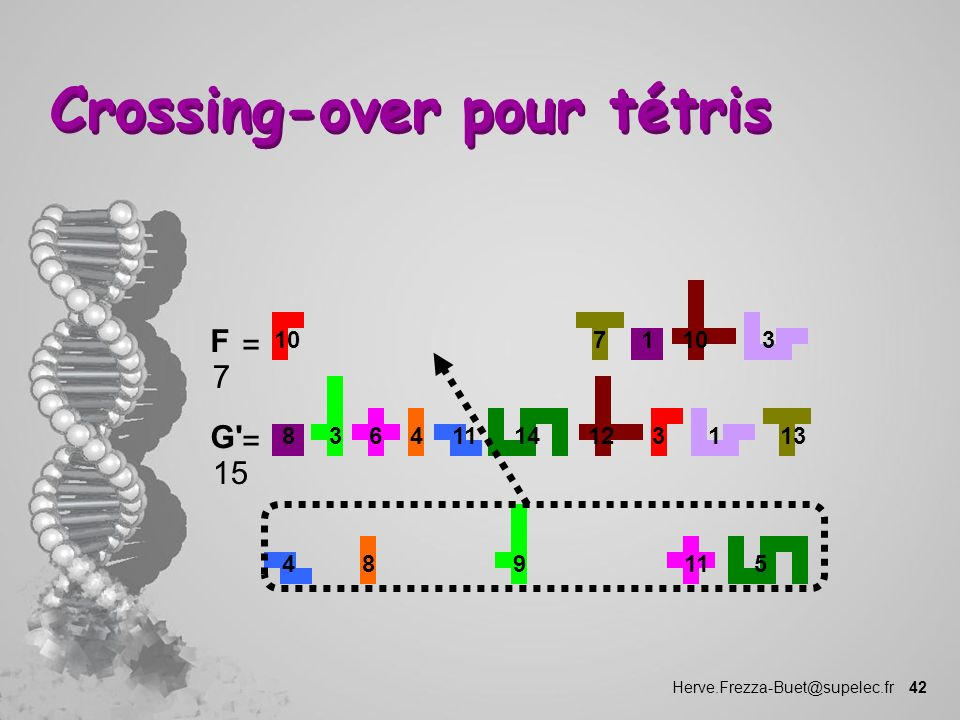 Crossing-over pour tétris