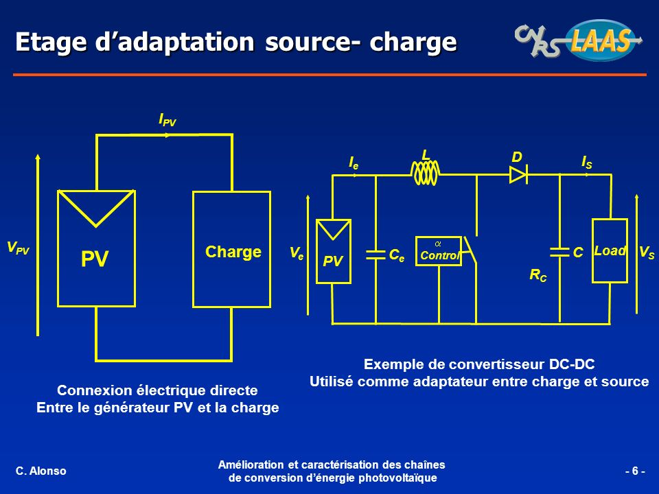 Etage d'adaptation source- charge