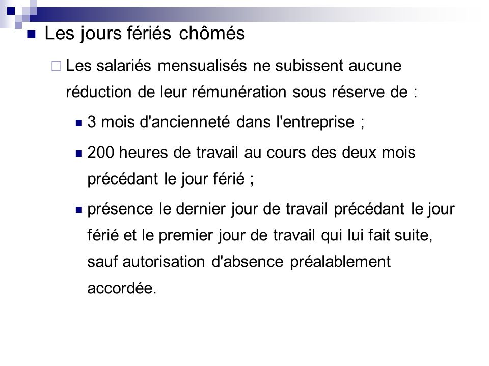 Jours Feries Chomes Et Payes Sicilfly