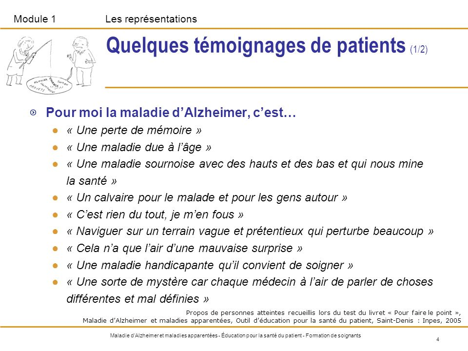 Quelques témoignages de patients (1/2)