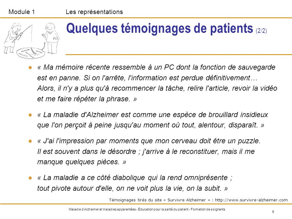 Quelques témoignages de patients (2/2)