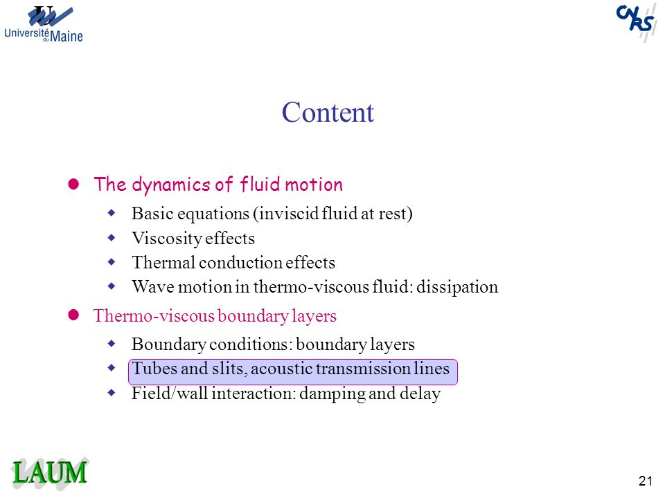 Content The dynamics of fluid motion
