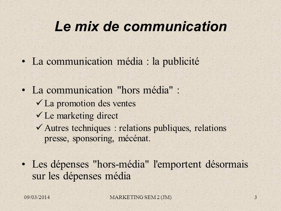 Le mix de communication