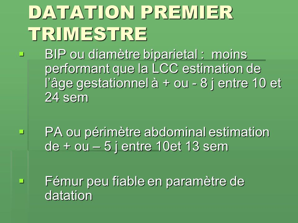 application de datation la plus fiable