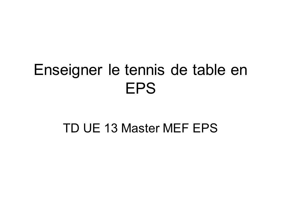 Enseigner Le Tennis De Table En Eps Ppt Video Online Telecharger