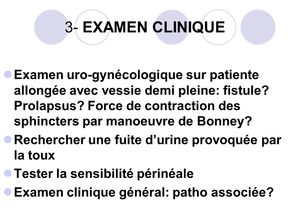 3- EXAMEN CLINIQUE