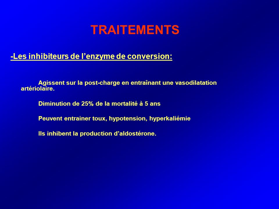 TRAITEMENTS -Les inhibiteurs de l'enzyme de conversion: