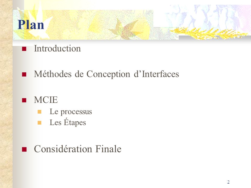 Plan Considération Finale Introduction