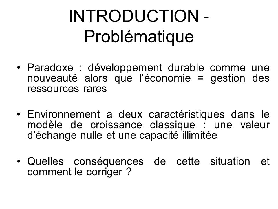 INTRODUCTION - Problématique