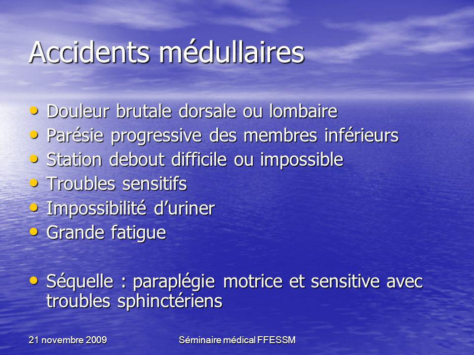 Accidents médullaires