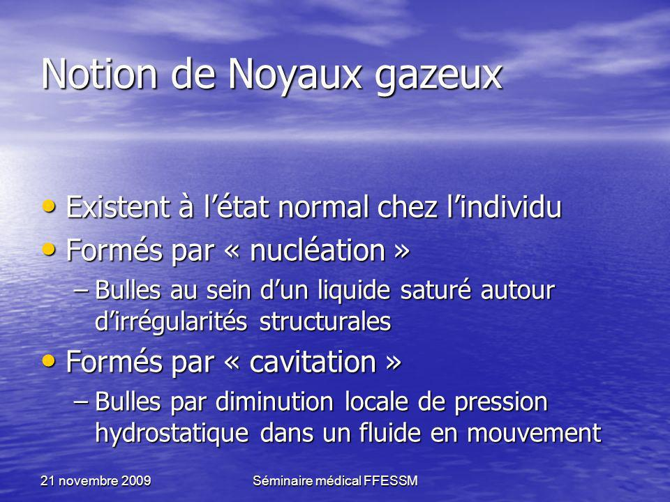 Notion de Noyaux gazeux