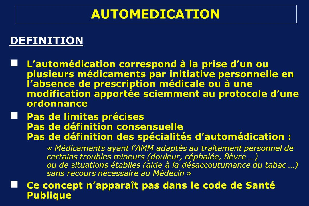 AUTOMEDICATION DEFINITION