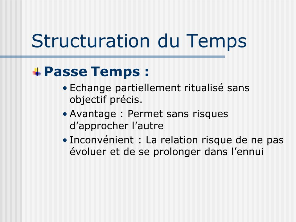 Structuration du Temps