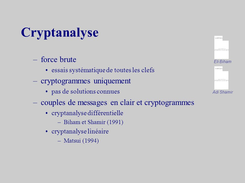 Cryptanalyse force brute cryptogrammes uniquement