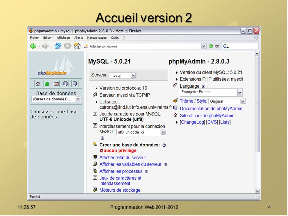 Accueil version 2 01:08:02 Programmation Web