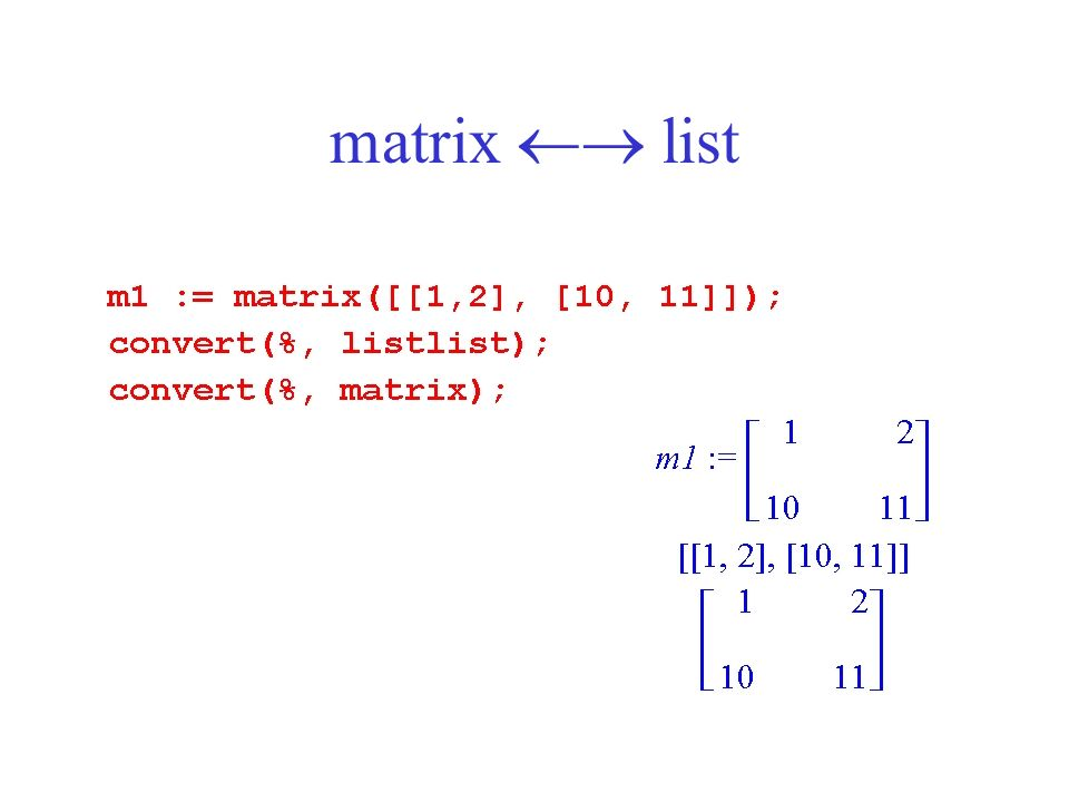 matrix  list