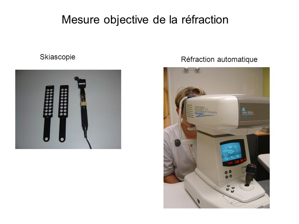 Mesure objective de la réfraction