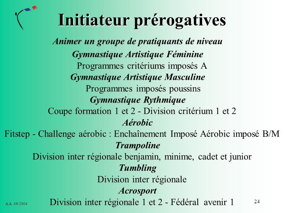Initiateur prérogatives