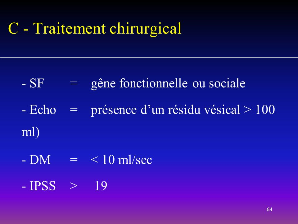 C - Traitement chirurgical