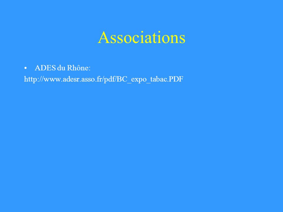 Associations ADES du Rhône: