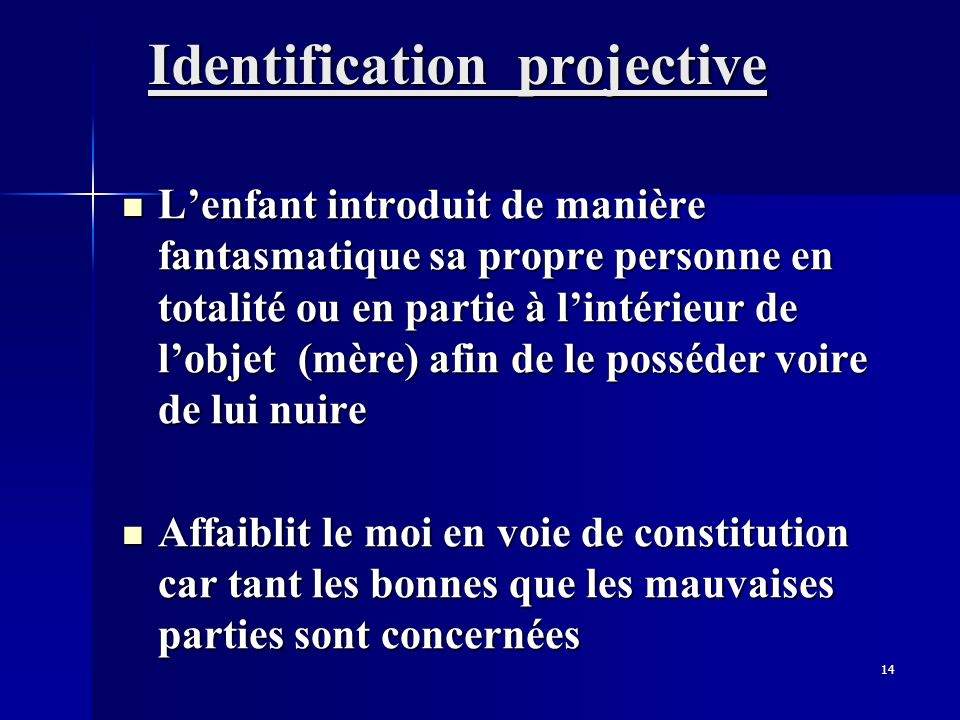 Identification projective