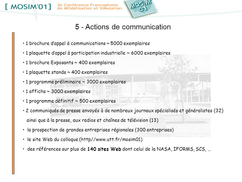 5 - Actions de communication