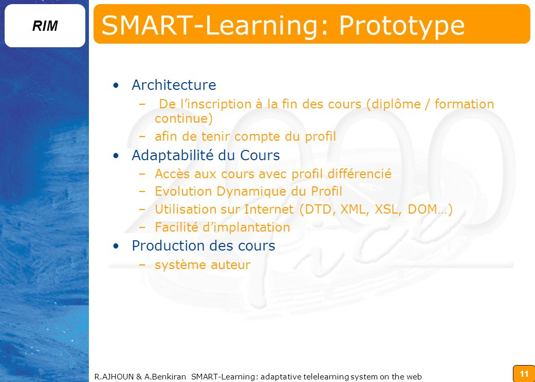 SMART-Learning: Prototype
