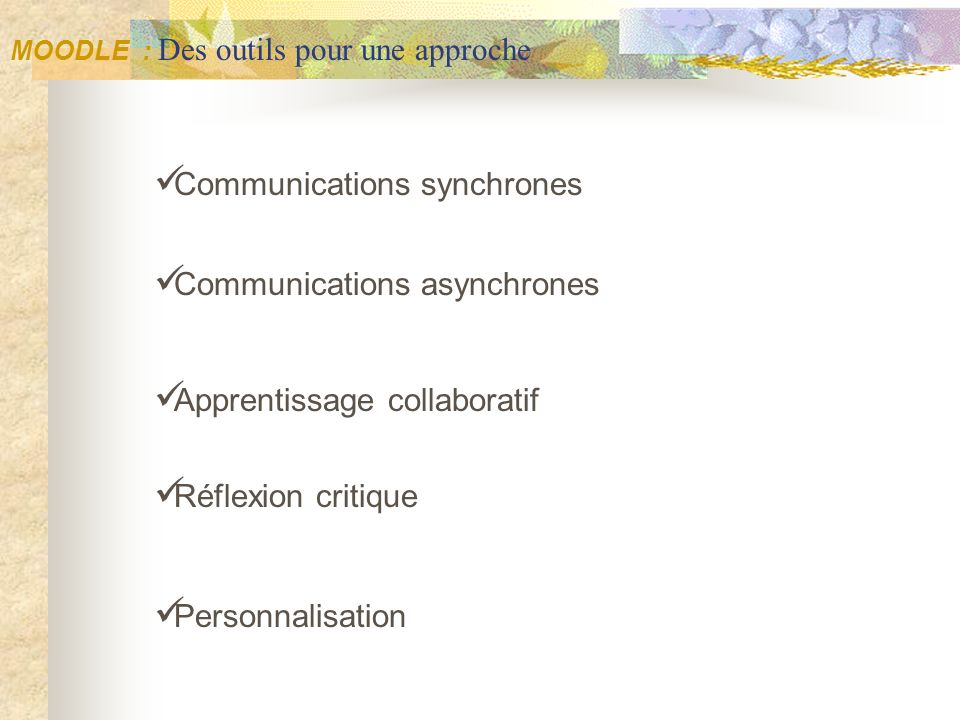 Communications synchrones Communications asynchrones