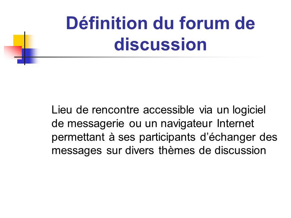 Rencontres forums de discussion